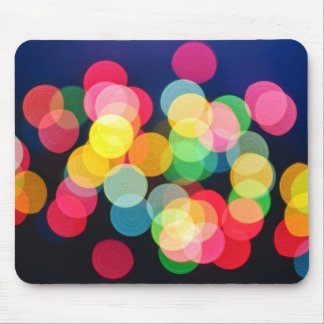 Blurred Christmas lights Mouse Pad