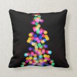 Blurred Christmas Lights Pillow