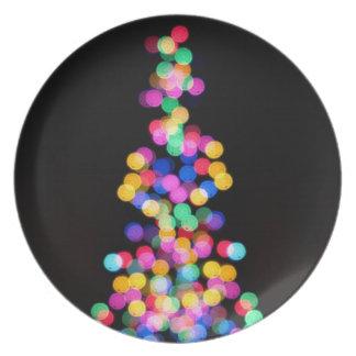 Blurred Christmas Lights Plate