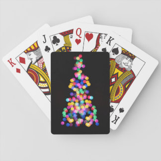 Blurred Christmas Lights Playing Cards