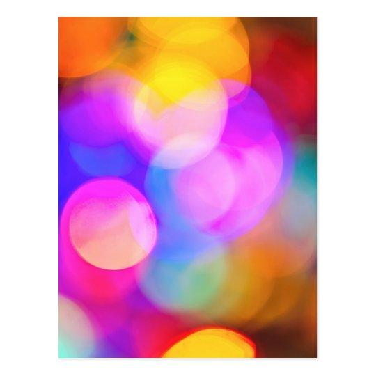 Blurred Christmas lights Postcard