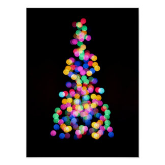 Blurred Christmas Lights Poster