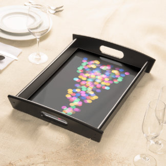 Blurred Christmas Lights Serving Tray