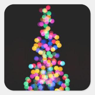 Blurred Christmas Lights Square Sticker