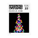 Blurred Christmas Lights Stamps