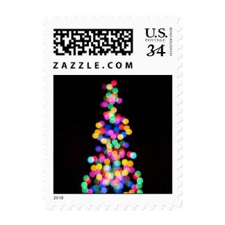 Blurred Christmas Lights Stamps