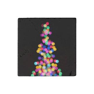 Blurred Christmas Lights Stone Magnet