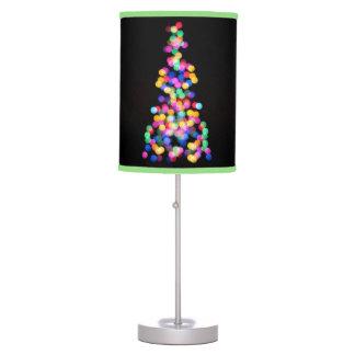 Blurred Christmas Lights Table Lamp