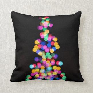 Blurred Christmas Lights Throw Pillow