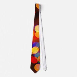 Blurred circle lighting tie