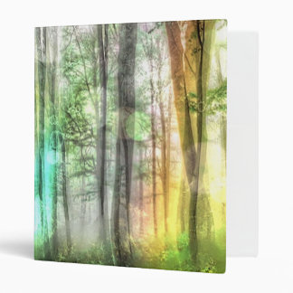 Blurred forest 3 ring binders