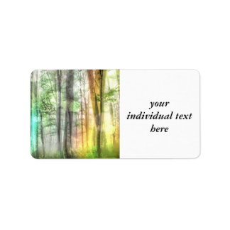 Blurred forest custom address labels