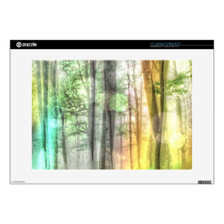 Blurred Forest Laptop Skin