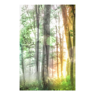 Blurred Forest Customized Stationery