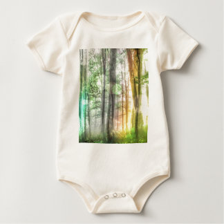 Blurred Forest Rompers