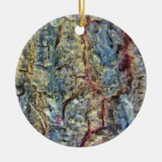 Blurred fruit tree bark texture background ceramic ornament