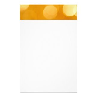 Blurred Gold Lights Personalized Stationery