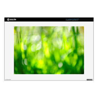 Blurred green background decals for laptops