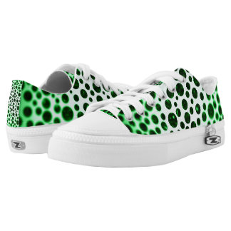 Blurred Green Dots Printed Shoes