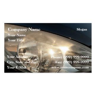 Blurred headlights business card