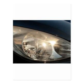 Blurred headlights postcard