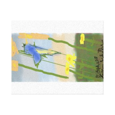 """Blurred Humingbird Sunset"" Canvas Print"