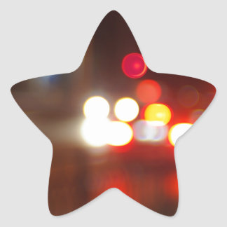 Blurred image of light from the glare of headlight star sticker