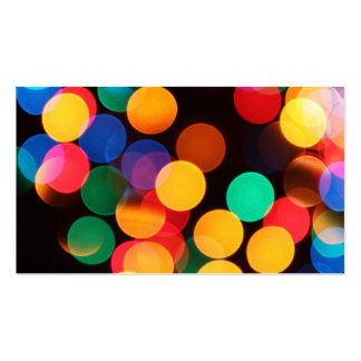 Blurred Lights Colorful Business Cards