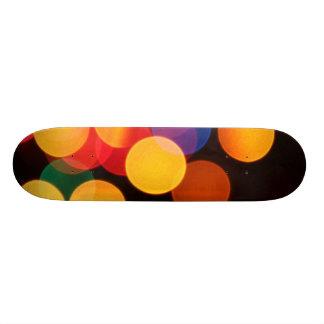 Blurred Lights Colorful Skate Boards