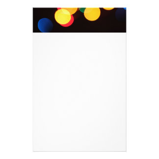 Blurred Lights Colorful Custom Stationery