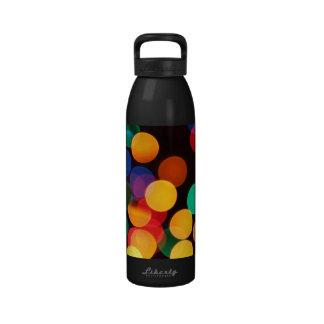 Blurred Lights Colorful Drinking Bottle