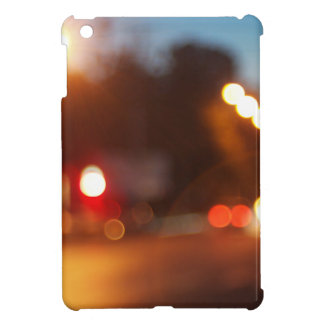 Blurred lights of cars cover for the iPad mini