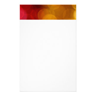 Blurred Lights Customized Stationery