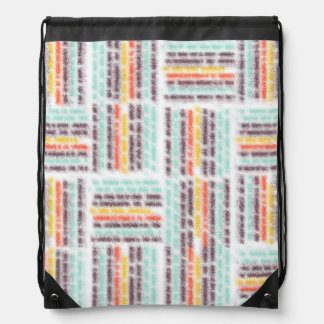 Blurred lines drawstring backpack