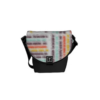 Blurred lines messenger bag
