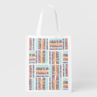 Blurred lines reusable grocery bag