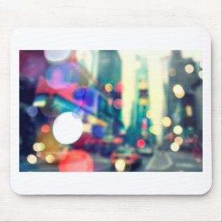 Blurred New York Times Square Mouse Pad