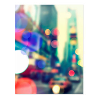 Blurred New York Times Square Postcard