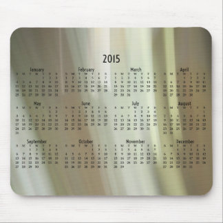 Blurred paint 2015 mousepad calendar
