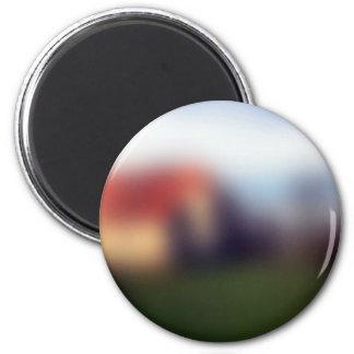 Blurred Photo Background 2 Inch Round Magnet