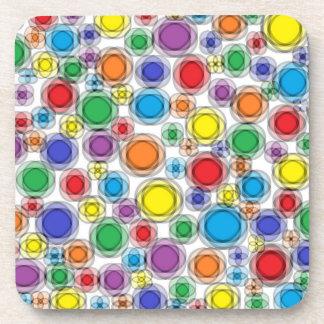 Blurred Polka Dots Coasters