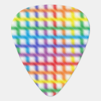 Blurred Rainbow Weave Guitar Pick