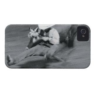 Blurred shot of cowboy wrestling steer iPhone 4 Case-Mate case
