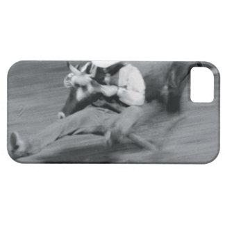 Blurred shot of cowboy wrestling steer iPhone SE/5/5s case
