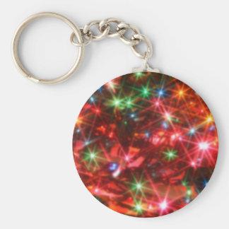 Blurred sparkling lights background keychain