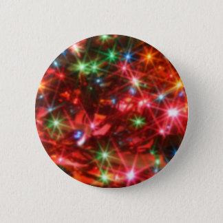 Blurred sparkling lights background pinback button