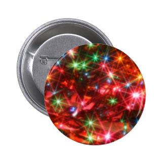 Blurred sparkling lights background pinback button