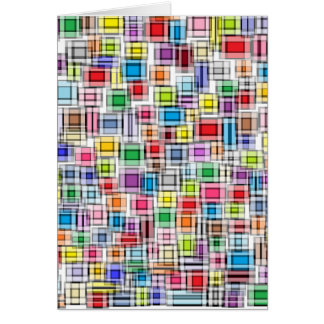Blurred Squares Card