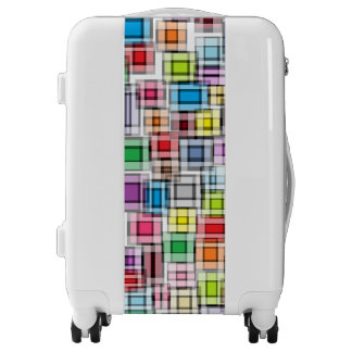 Blurred Squares Luggage
