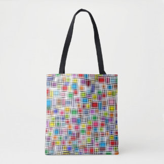 Blurred Squares Tote Bag